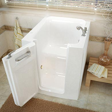 Walk in tub dimension sizes of standard deep and wide tubs for Length of tub