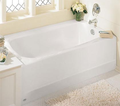 Walk in tub dimension sizes of standard deep and wide tubs for Deep bathtubs standard size