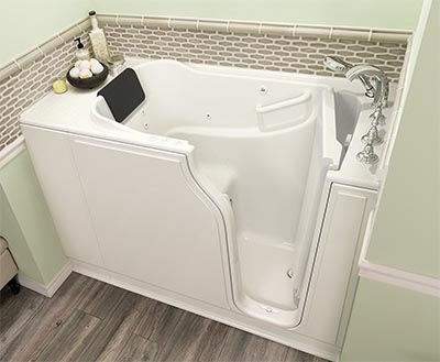 Walk in tub dimension sizes of standard deep and wide tubs for Big and tall walk in tubs