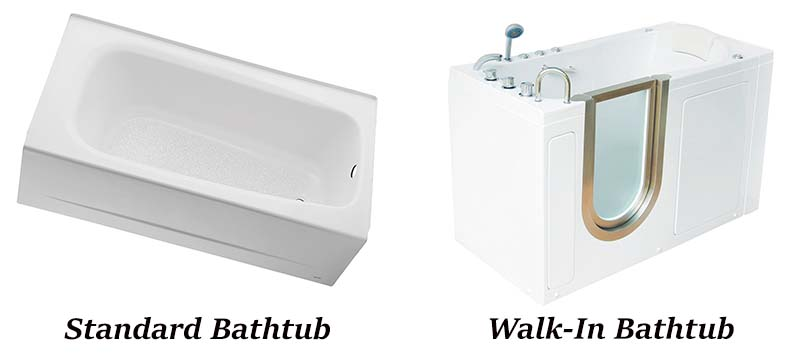 walk in bathtub vs classic bathtub
