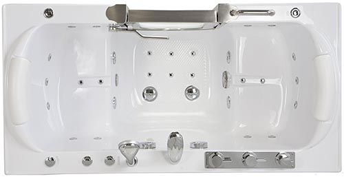 water and air jets for walkin bathtubs