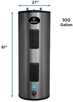 100 gallon walk in tub water heater